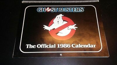 VINTAGE 1986 Official Ghostbusters Calender by Antioch Publishing (RARE & VHTF)