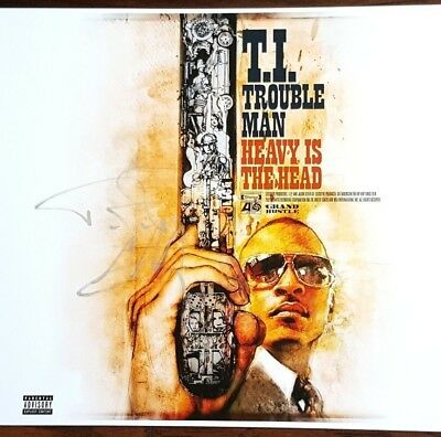T.i. Harris Rapper Signed Trouble Man Heavy Is The Head 12X12 Album Cover Photo!