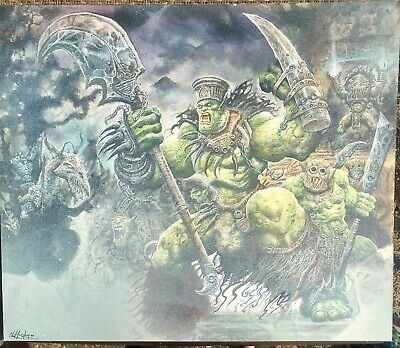 Crucible Orcs Front Cover Original Hand Painted Art Clint Langley