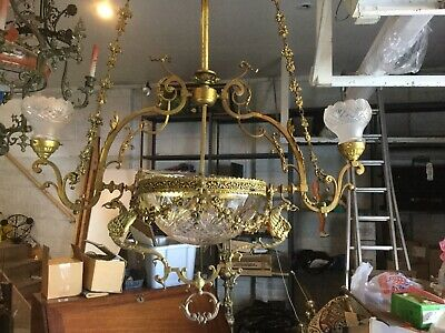 Huge Original Chandelier ( Electrolier )
