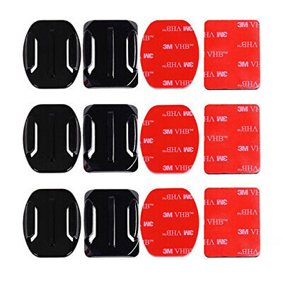 6Pcs Helmet Accessories Flat Curved Adhesive Mount for GoPro HERO 7 6 5 4 3 3+