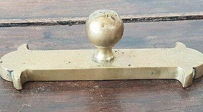 Antique beautiful solid brass door or cupboard handle /knob Stop Plate very old