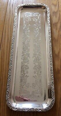 Vintage Silver Plated Oblong Tray