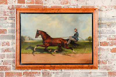 James Hill -  Horse Dexter & Budd Doble -Original 19th century Oil Painting