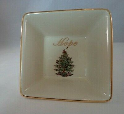 """Spode Dish Christmas Tree Gold Collection Hope Candy Bowl Appetizer Sauce 5"""""""