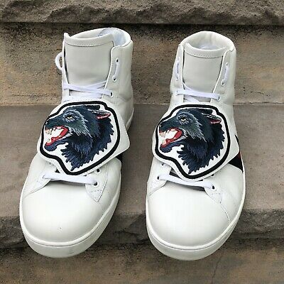 1cfaf1937b0 GUCCI ACE HIGH Top Sneakers Removeable Patch EUC 12.5 -  375.00 ...
