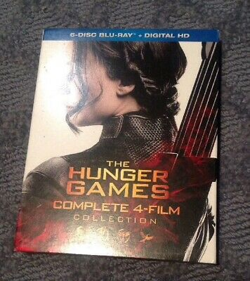 The Hunger Games Complete 4 Film Collection Region A Blu-ray + Digital DL