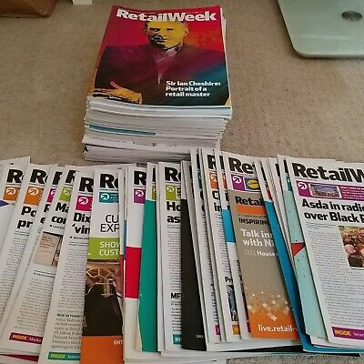 Almost £1400 worth RETAIL WEEK professional retail magazines lot 2014-2015 NEW