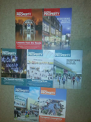 7x RETAIL WEEK professional retail magazine 2014- 2015 Property Specials NEW