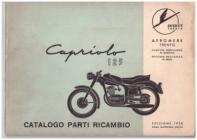 Catalogo ricambi originale - Spare parts catalogue - Aeromere Capriolo 125 1958