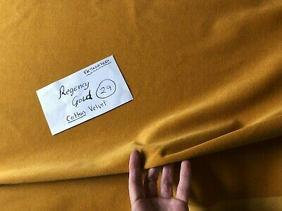 Made To Measure Regency Gold Cotton Velvet, Lined Curtains. Mustard. Bay Mtm