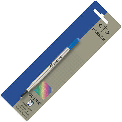 GENUINE Parker Quink Rollerball Pen Refill Medium Point  BLUE INK