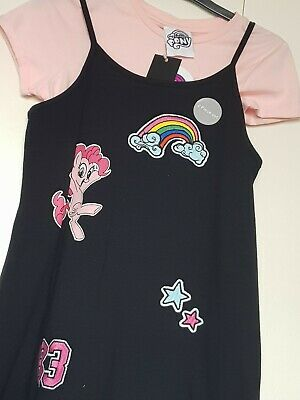 BNWT Girls My Little Pony T-Shirt Dress Outfit Size 7-8 Yrs