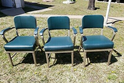 Mid Century Modern Furniture Royal Metal Manufacturing Co Arm Chairs Sy
