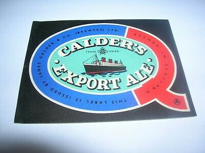 CALDER'S Export Ale  J. Calder & Co. Brewers Ltd  SCOTLAND