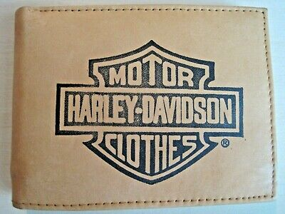 34efe642c067 Mens Leather Bi-Fold Wallet w/ HARLEY DAVIDSON MOTOR CLOTHES Image*Father's  Day