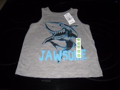 """Peanut & Ollie Boy's 24 Month Grey Shark Tank """"jawsome"""" New With Free Shipping~~"""