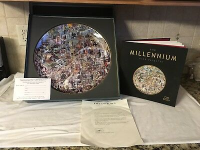 The Millennium Time Tapestry Plate & Book LTD Edition 1554 Of 2000 Fitz & Floyd
