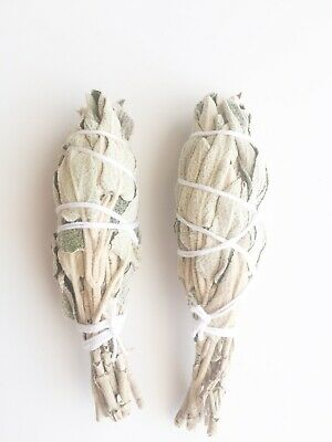 🌿Wild & Organic  WHITE SAGE Smudge STICK🌿 5 Inches 12.5 Cm 🍃Pack Of 2