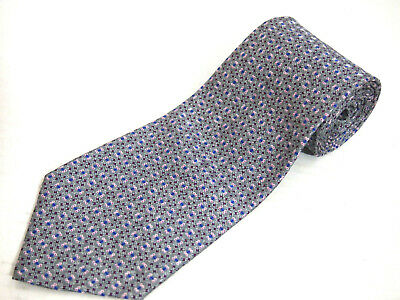 Ties, Bow Ties & Cravats Cavenagh Of London 100% Silk Mens Blue Geometric Wide Fit Tie