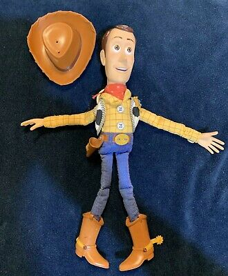 ef685f92e Toy Story and Beyond Talking Pull String Woody Doll Works 2001 Hasbro w/ Hat