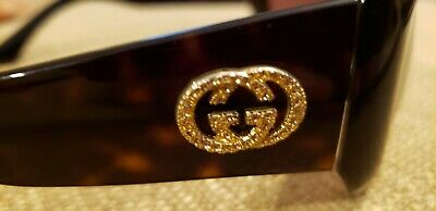 65689b26ce Gucci Sunglasses brown tortoise shell with gold crystal logo. No box or  case.