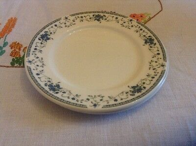 Dudson Fine China tea plates blue flower design