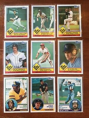 1982 TOPPS BASEBALL Pick your own Commons (20/$1) and Stars NM/MT