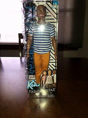 Barbie Ken Fashionistas Doll 18 Super Stripes loose