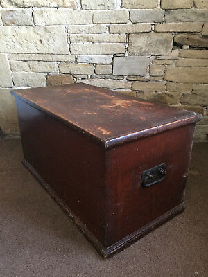 A Fab Unmessed with 'Rough Luxe' Antique Pine Blanket Chest / Coffee Table