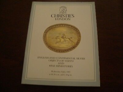 Christies English /Continental Silver, Objects of Vertu & Miniatures 1987  19/35