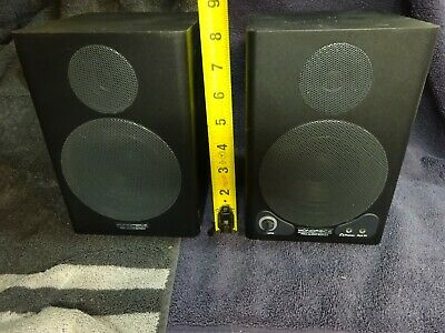Monoprice 8in Powered Studio Monitor Speakers PARTS ONLY or REPAIR PROJECT