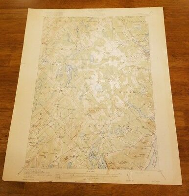U.s. Geological Survey Map Topography State Of Maine Belfast Quadrangle 1917