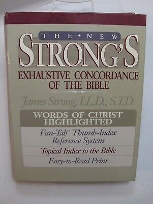 THE NEW STRONGS EXHAUSTIVE CONCORDANCE OF THE BIBLE Christian Table Top Size