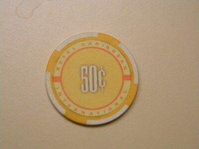 Vintage Royal Caribbean International Cruise line 50-cent Casino Chip