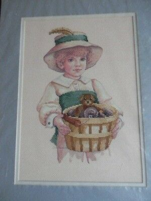 Completed Jan Hagara Colorart Cross Stitch TODD Victorian Child JCA 14 x 18 New