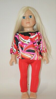 American Girl Dolls  Our Generation 18 Doll Clothes Top Leggings 2 piece Set