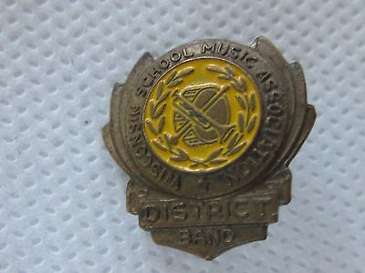 Vintage Wisconsin School Music Association District Band Safety Type Pin