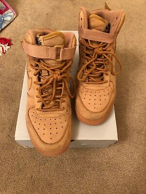 meet 20c8a 137a0 Nike Air Force 1 High Top Wheats Flax Size 7 Youth  7 Men EUC Sold