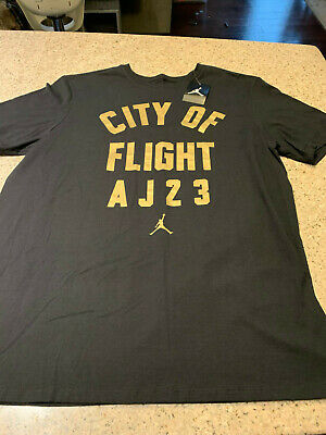 3f323469d1a Authentic Nike Air Jordan City Of Flight Aj23 Black T Shirt 913019-017 Xl