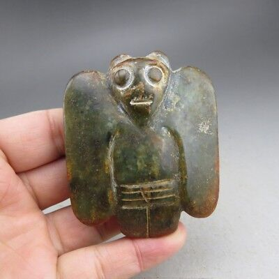 Chinese jade, collectibles, Hongshan culture,jade, eagle, pendant D2025