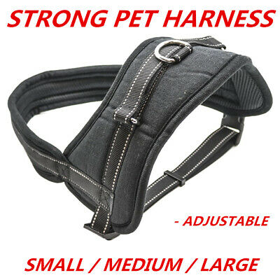 Strong Adjustable Power Pet Dog Comfortable Heavy Duty Harness Small Medium