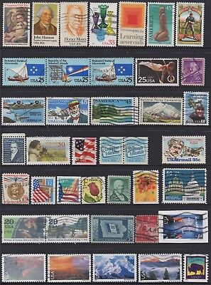 USA No.8 COLLECTION OF (40) STAMPS USED.