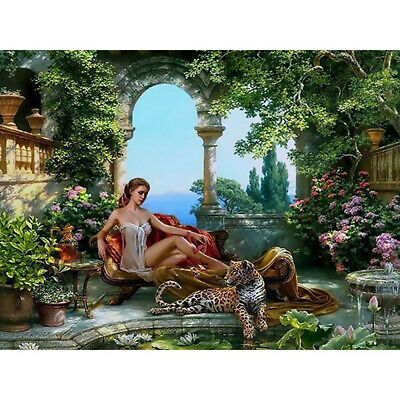 Canvas Paint By Numbers Kit Hand Oil Painting Leopard No Frame Home Art Decor