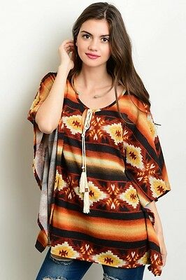 Women's Knitted  Batwing Poncho Style Top