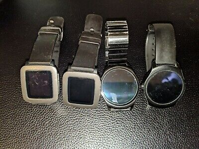 4 Smartwatches! 2 Pebble Times and 2 TicWatch 2s! Used, but work great!