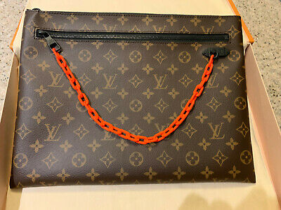 fe9df5395983 Louis Vuitton Virgil Abloh A4 Pouch Monogram M44484 100% authentic very  limited