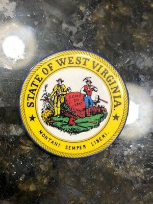 STATE OF WEST VIRGINIA - very colorful - State Seal - pinback/button - NEW