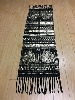 Black and Gold Egyptian Assiut Tally Shawl Wrap