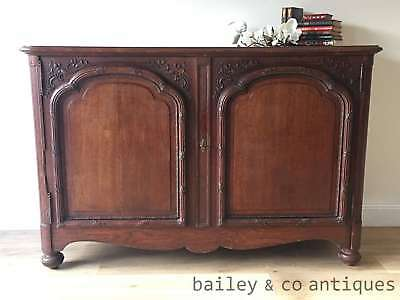 Antique French Buffet Sideboard Carved Oak Rare Provincial 1800's - OF152